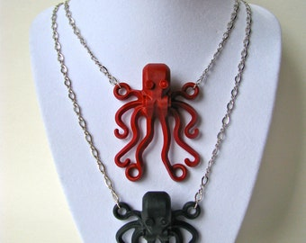 Brick Octopus Necklace (Pick one color)