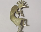 Navajo Sterling Silver Kokopelli Brooch