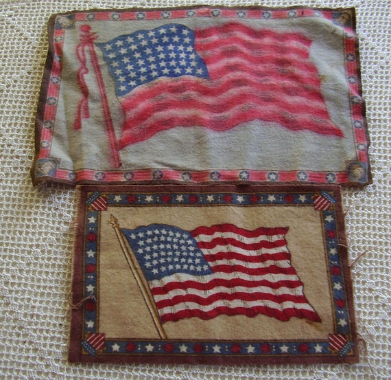 Vintage Tobacco Felts 48 Star Flags