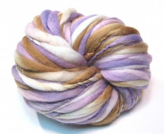 Super bulky thick and thin handspun yarn in merino wool- 50 yards, 3.0 ounces/ 87 grams