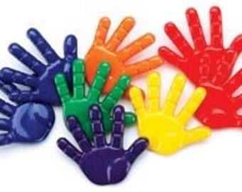 Hand print Buttons