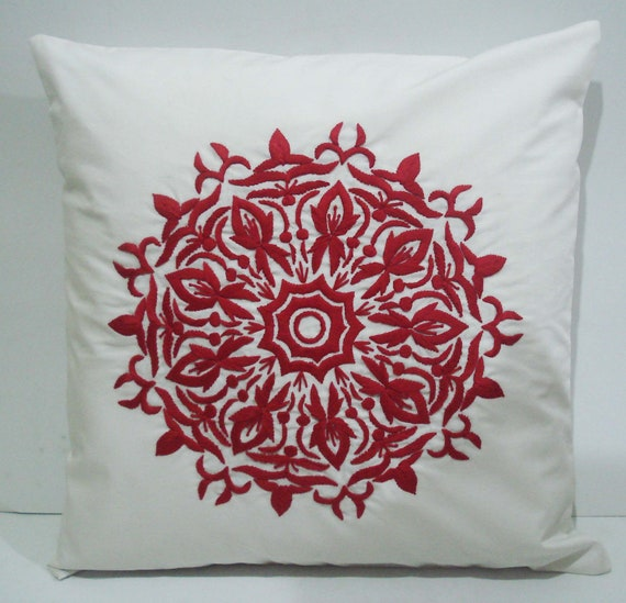 Items similar to Red pillows-decorative throw pillow-modern pillow on Etsy