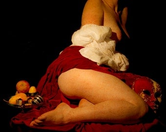 Artistic nude photo print with painting look - Caravaggio Inspired - 05