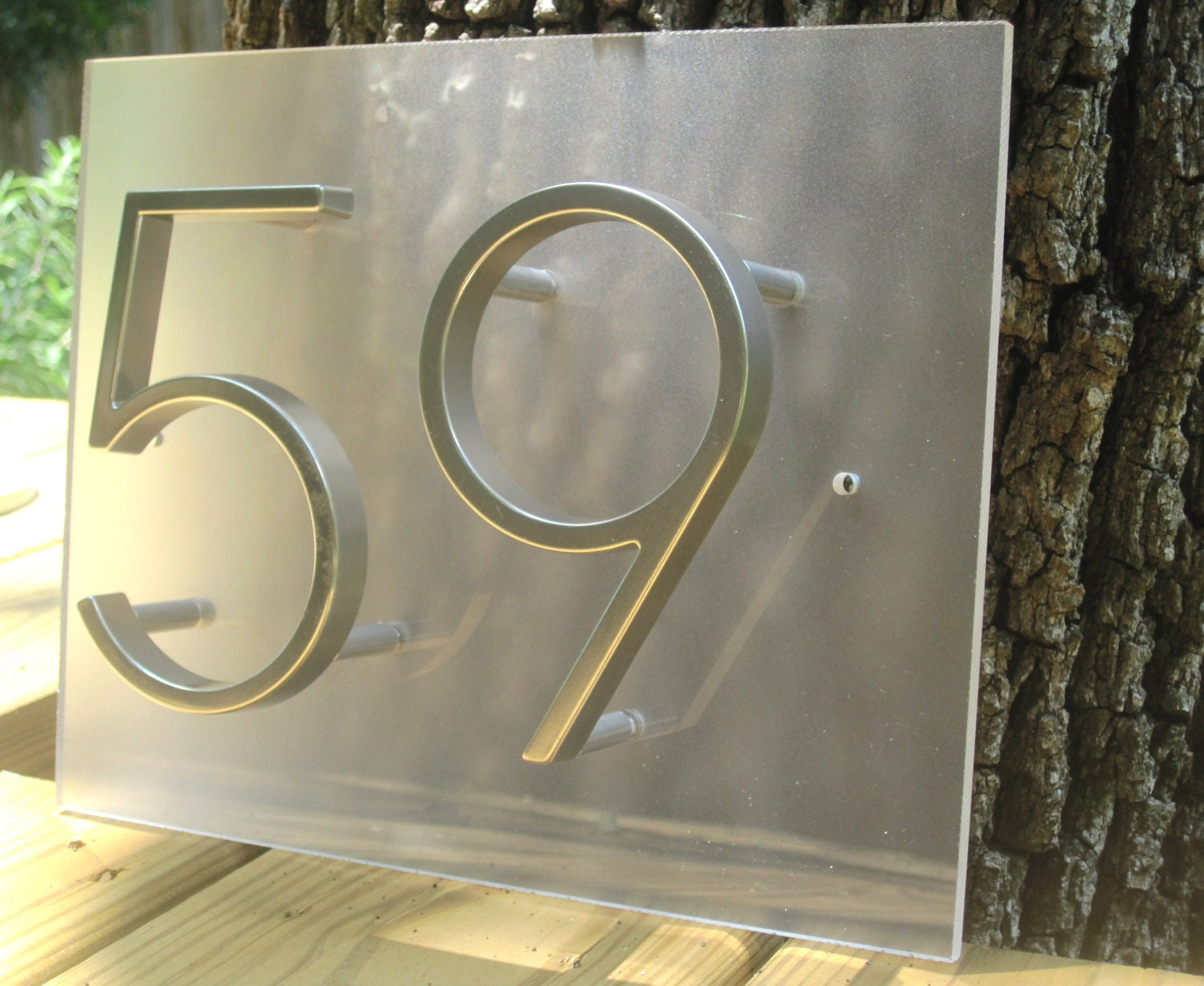 Modplexi Address Plaque For 2 House Numbers