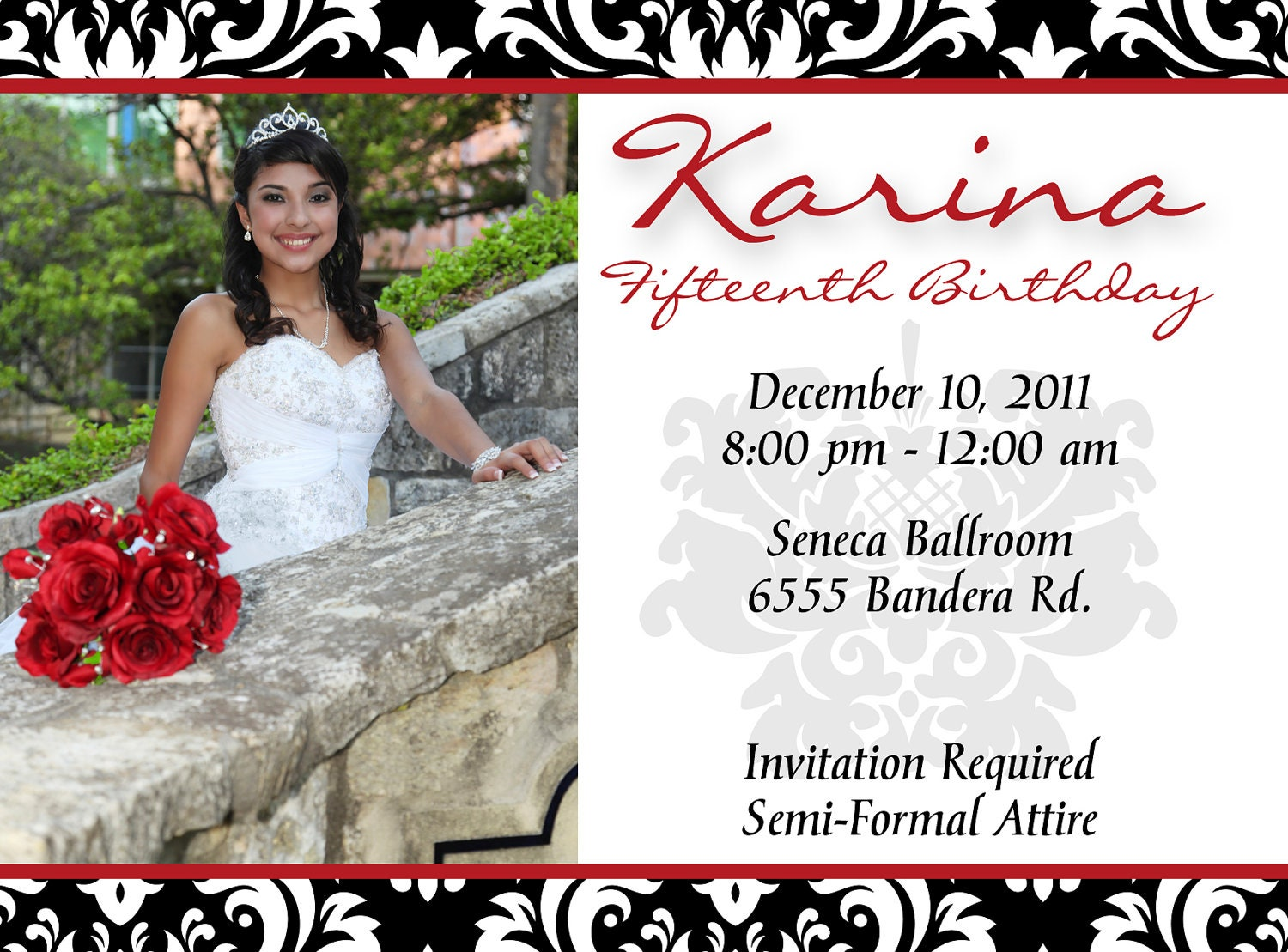 Quinceanera Invitations Birthday Party by gwenmariedesigns