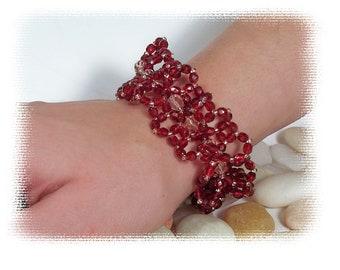 Ruffled Lace Bracelet Pattern, Beading Tutorial in PDF