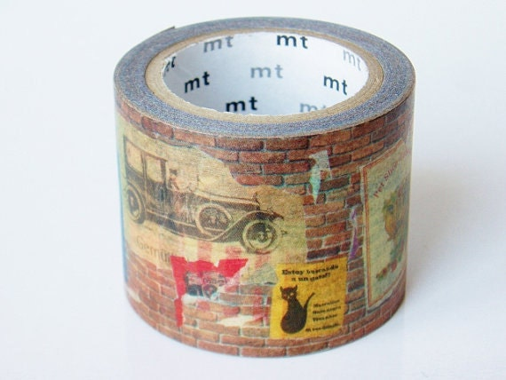 Limited Edition mt Japanese Washi Masking Tape-Brick Wall