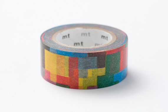 On Sale - mt x mina perhonen 2012 Autumn -Japanese Washi Masking Tape / Jigsaw Puzzle 27mm