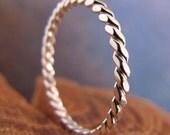 Skinny Square Rope Stack Ring