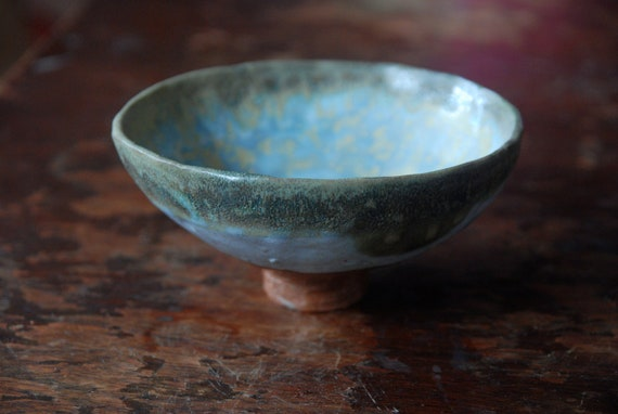 Handmade ceramic bowl - Summer blue