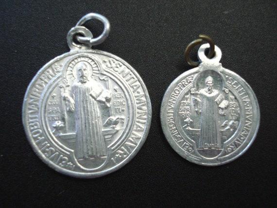 Lot 3pcs Italy 2 Quot Silver St Benedict Cross Rosary Part