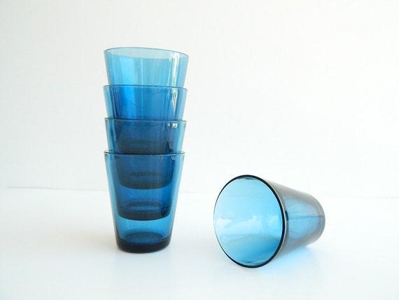 Vereco Modern Blue Glasses from France
