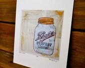 Mason Jar Print Gift for Foodie 8x10 print