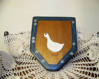 Vintage Country Duck Wall Pocket Planter Home Decor