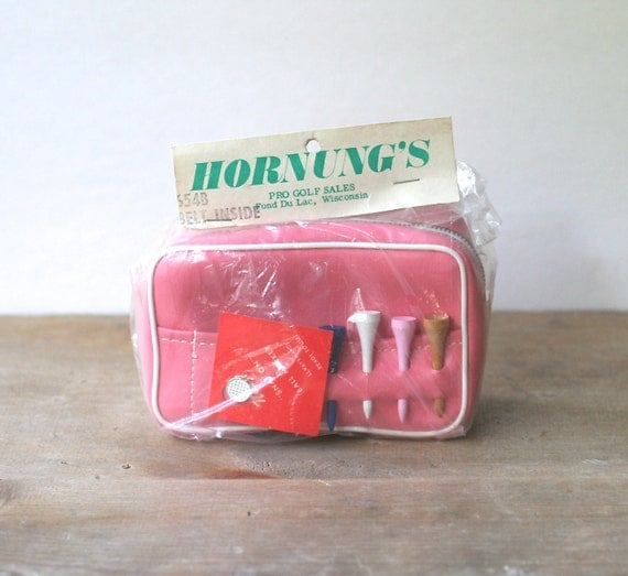 Circa 1970s Ladies Pink Golf Accessory Pouch-Belt NOS Ladies Golf