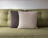 Neutral Decorative Knitted Pillow / Cushion Cover /// Set of Two