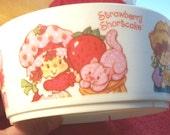 Strawberry Shortcake Cereal Bowl 1980