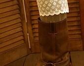 Boots Socks w/ Vintage Lace