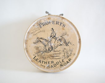 Vintage Propert's Leather and Saddle soap tin