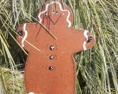 Handpainted Christmas Ornaments or Gift Tags Snowman, Gingerbread