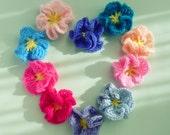 Flower Crochet Pattern Amelie PHOTO tutorial - PDF ebook - ornament, hair accessory, wedding deco, bride bouquet - Instant DOWNLOAD