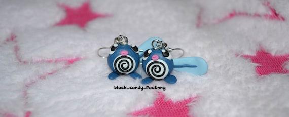 Cute poliwag earrings. - POKEMON -