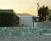 Mid Century Modern Architectural Landscape 8x12