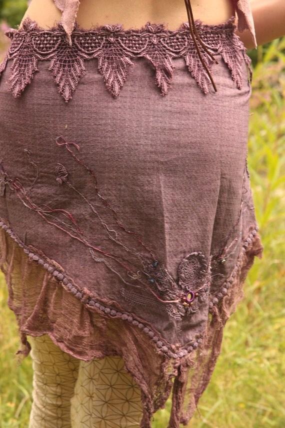 RESERVED Purple haze, festival burning man fae costume piece, whimsical mini skirt