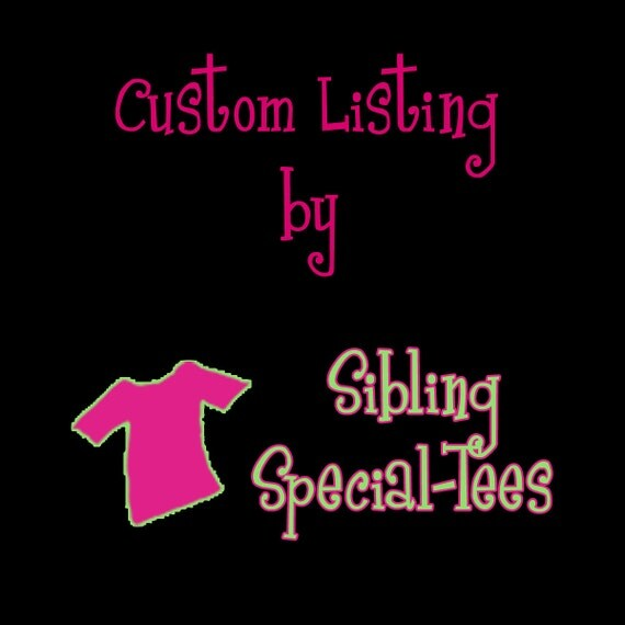Custom Listing for Mandie Kellerman