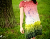 Forest fairy - nuno felted dress
