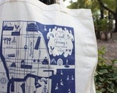 10 Custom Chicago Map totes NEW