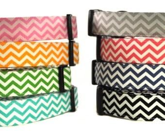 Mini Horizontal Stripe Chevrons - Dog Collar