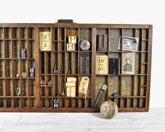 Vintage Letterpress Drawer / Printers Drawer / Industrial Decor
