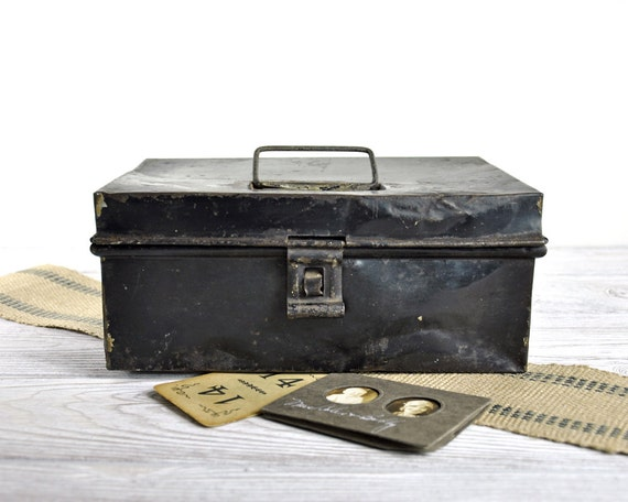 RESERVED /// Antique Spice Box / Industrial Storage
