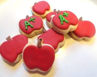 Mini Apple cookies Teacher gift (1 dozen)