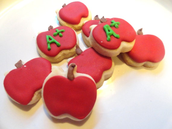 Mini Apple cookies Teacher gift