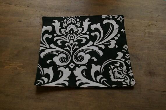 black and white damask table mats mug rug candle mat on etsy