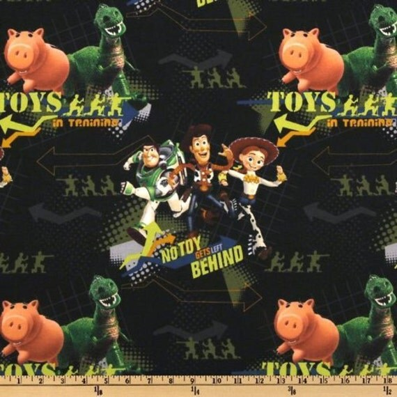 """Toy Story """"in training"""" Fabric 1 Yard"""