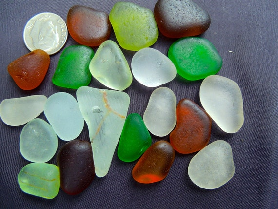 Sea Glass or Beach Glass of HAWAII   SALE  22 dollars  QUARTER size pieces in my Etsy shop SeaGlassFromHawaii