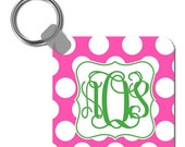 Personalized Square Keychain