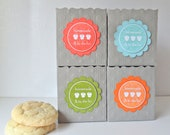 Homemade & To Die For - Baked Good Gift Bags - Set of 4