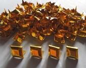 100 pcs Gold tone rhombus stud findings size 10 x 14 mm