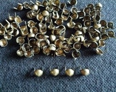100 pcs Bronze tone Tiny Cone stud findings size 6 mm