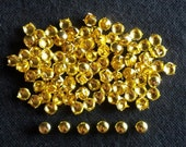 100 pcs Gold tone Round stud findings size 8 mm