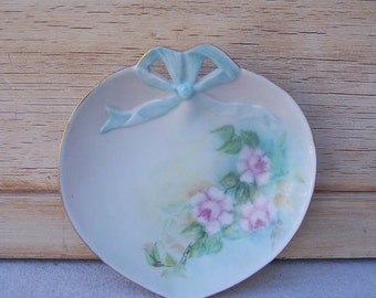 Ring Dish, Heart, Shabby Chic