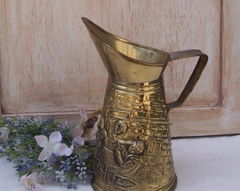 Brass Pitcher, Metallic, Gold Decor