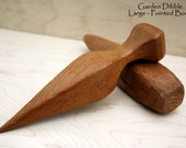 Hand-Carved Garden Dibble - Large, Pointed Body