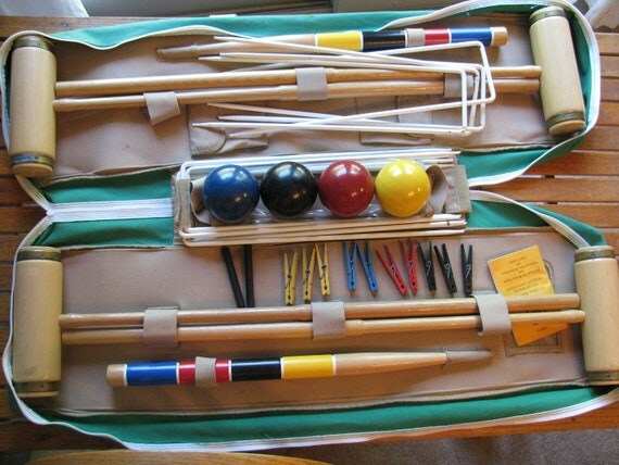 Forster Competition Croquet Set for 4  EXL Condition Adult Size