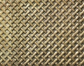 Nickel Silver Texture Metal Sheet Tight Weave Pattern 20g - 6 1/8 x 1 7/8 inches - Hammering Sheet Metalwork