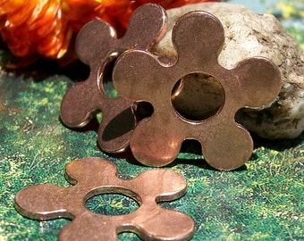 Copper Flower with Center 20mm Blanks for Enameling Stamping Texturing